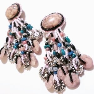 VINTAGE EARRINGS CLIP ON  EXAGGERATED STATEMENT